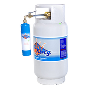 save money by refilling your own 1# camp size propane cylinders